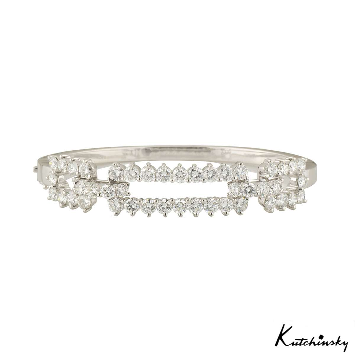 Kutchinsky White Gold Diamond Bangle 4.60ct